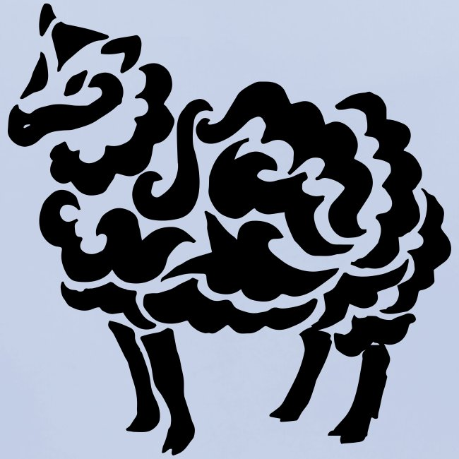 Tribal Schaf Wolle Tattoo Lustig Geschenkidee