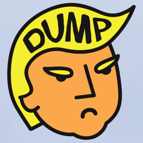 Dump Trump - Bavoir bio Bébé