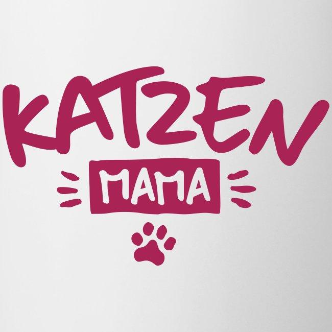 Vorschau: Katzen Mama - Tasse zweifarbig