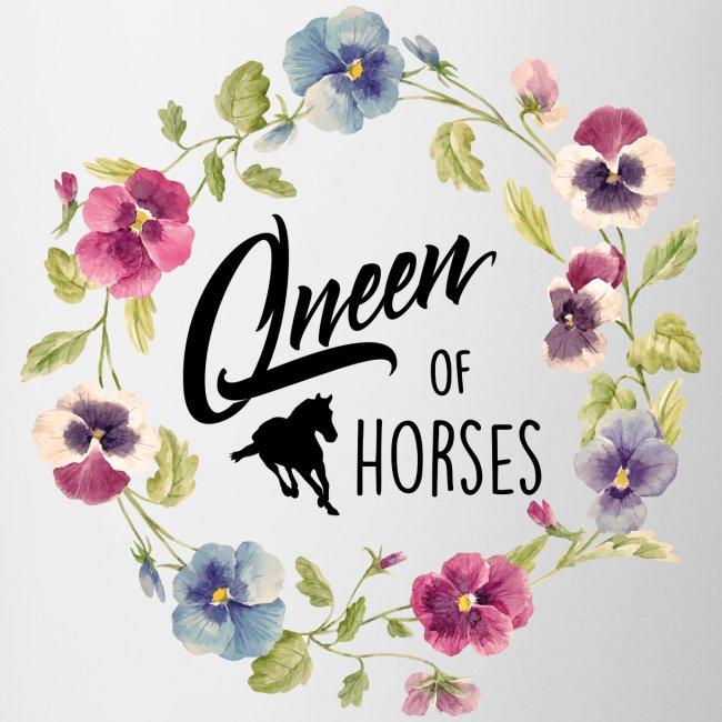 Vorschau: queen of horses - Tasse zweifarbig