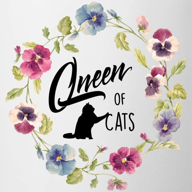 queen of cats - Tasse zweifarbig