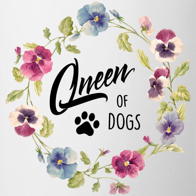 Vorschau: queen of dogs - Tasse zweifarbig