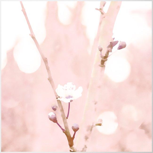 Cherry tree watercolor minimalism