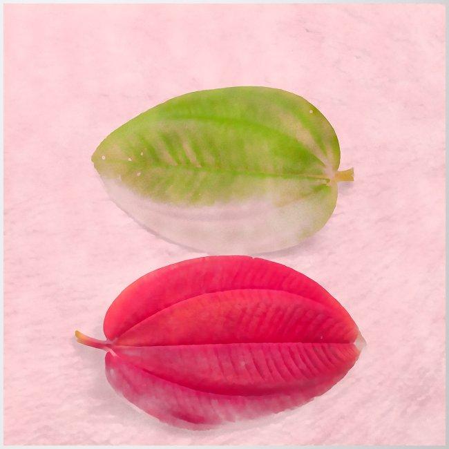 Pale leaf zen minimalism watercolor