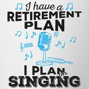 Retirement plan singing (dark) - Tasse zweifarbig