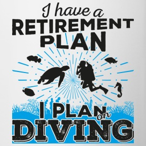 Retirement plan diving (dark) - Tasse zweifarbig
