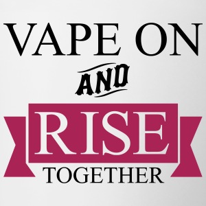 Vape On et élever ensemble - Tasse bicolore