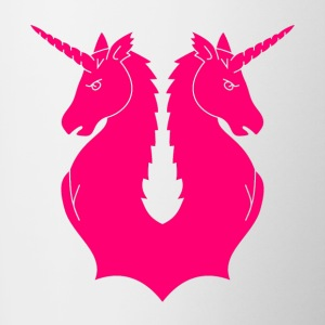 Double Unicorn - Mok tweekleurig