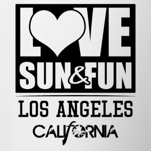 Love, Sun & Fun · Los Angeles · California - Contrasting Mug