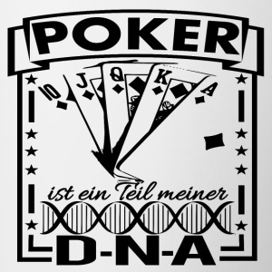 DNA POKER BLACK - Tasse zweifarbig