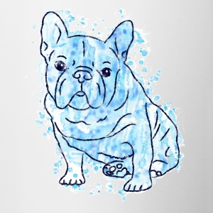 Bouledogue français Frenchie Hund Bully Bleu - Tasse bicolore