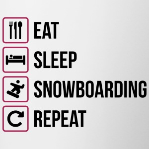 Eat Sleep Snowboard Repeat - Tazze bicolor
