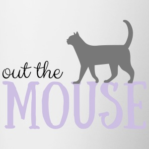 Out the mouse - Tasse zweifarbig