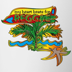 my heart beats for reggae - Tasse zweifarbig