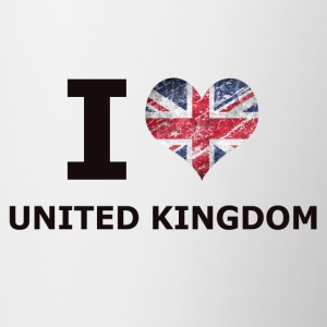I LOVE UNITED KINGDOM FLAG - Contrasting Mug