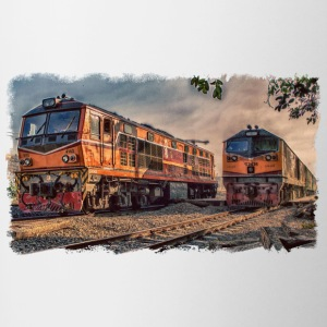 locomotive Thai - Tazze bicolor