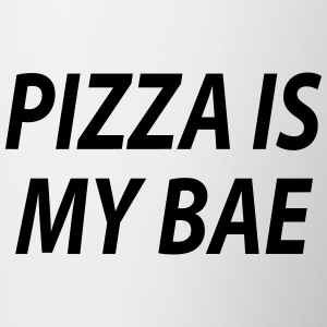 Pizza is my bae - Tasse zweifarbig