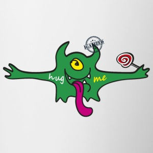 """Hug me"" Monsters Every little monster needs a hug - Tasse zweifarbig"