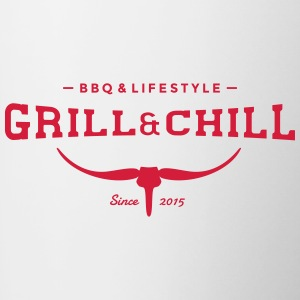 Grill and Chill / BBQ and Lifestyle Logo 2 - Tasse zweifarbig