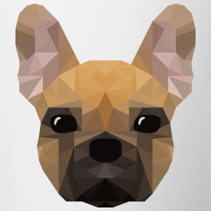 French Bulldog - low poly style - Contrasting Mug