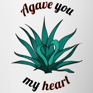 agave you my heart - Contrasting Mug