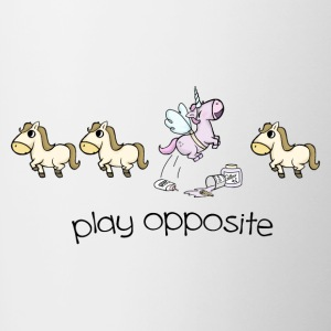 Play opposite - Tasse zweifarbig