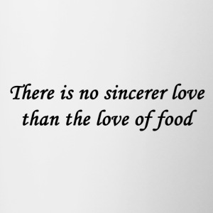 Food Love Quote - Contrasting Mug