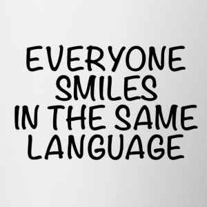 Everyone smiles in the same language - Contrasting Mug