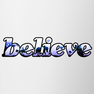 """Believe"" magic lettering - Contrasting Mug"