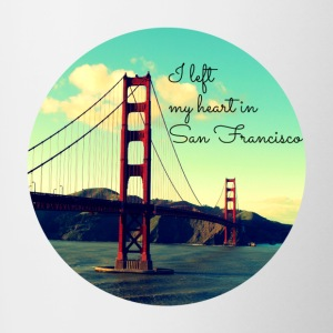 I left my heart in San Francisco - Contrasting Mug
