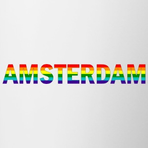 Amsterdam in rainbow colors - Contrasting Mug