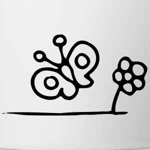 Butterfly flower - Contrasting Mug