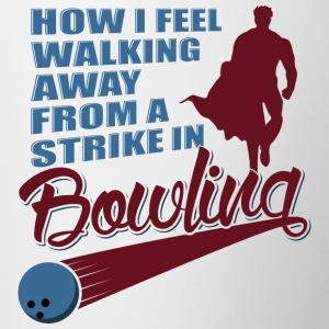 How I feel walking away from a strike! - Tasse zweifarbig