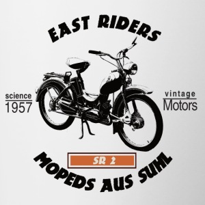 East Riders Mopeds from Suhl - Contrasting Mug