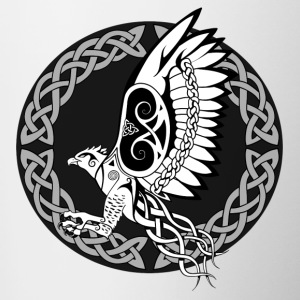 Celtic Harpy / Celtic Harpy Bird (With Circle) - Contrasting Mug