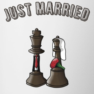 Just married! - Tasse zweifarbig