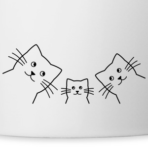 Cat family cats - Contrasting Mug