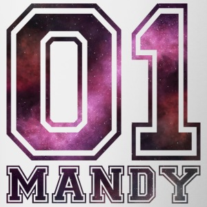 Mandy name - Contrasting Mug
