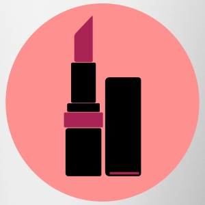 Lippenstift Vektor Logo (your color) - Tasse zweifarbig