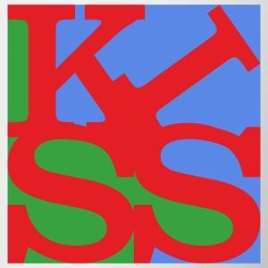 Kiss homage to Robert Indiana Kiss colorful - Contrasting Mug