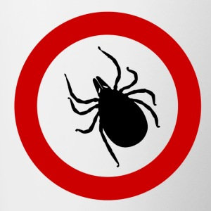 Caution tick / ticks / Punk / Punk / parasite - Contrasting Mug