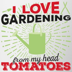 I love gardening from my head tomatoes! (dark) - Tasse zweifarbig