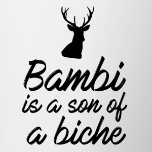 Bambi is a son of a doe - Contrasting Mug