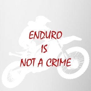 enduro is not a crime 2 - Contrasting Mug