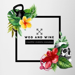 WOD and WINE - Crosfitter Alcoholics Anonymous - Contrasting Mug