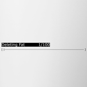 Deleting Fat: Gym, Workout, Fitness - Contrasting Mug
