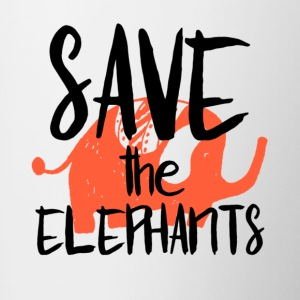 Save the Elephants - Tasse bicolore