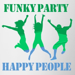 Funky Party Happy People - Tvåfärgad mugg