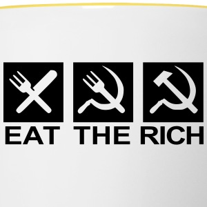 Eat the rich - Contrasting Mug