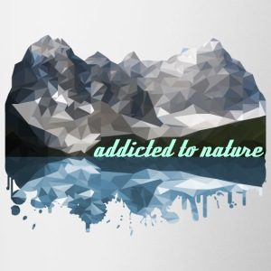 addicted to nature - Contrasting Mug
